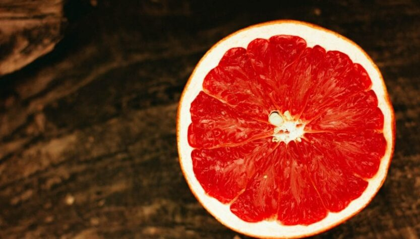 The image of half of grapefruit