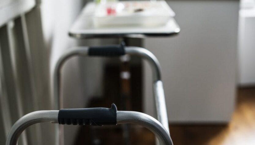 An Image of folding walker.