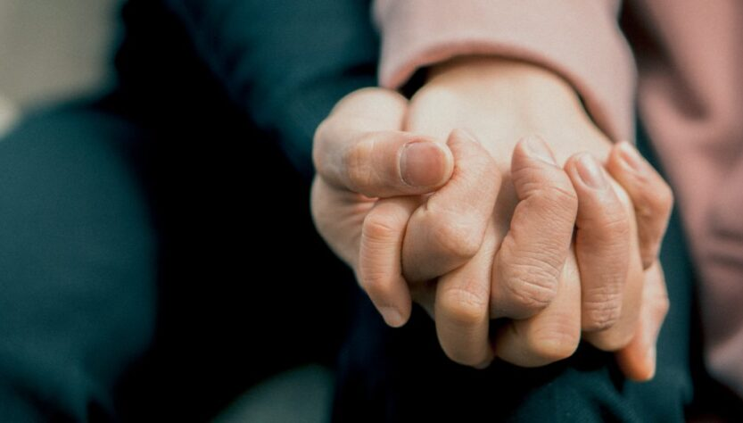 Rosacea Medication Category Image- Holding hand