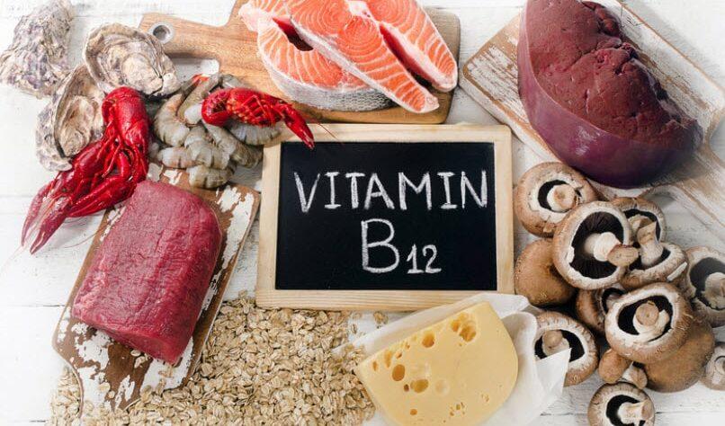 Many kind of foods providing vitamin b12