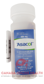 A bottle of Asacol 400mg- 180 tablets