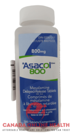 A bottle of Asacol 800mg- 180 tablets