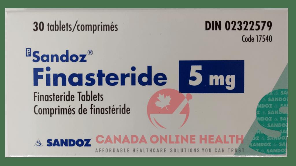 online medicine a box of Sandoz Finasteride-5mg