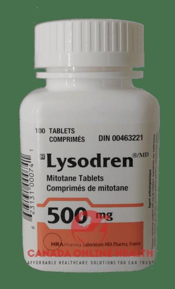 A box of online medicine Lysodren-500mg Cancer Medication