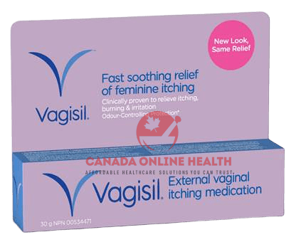 The box of Vagisil- new look same relief -30g