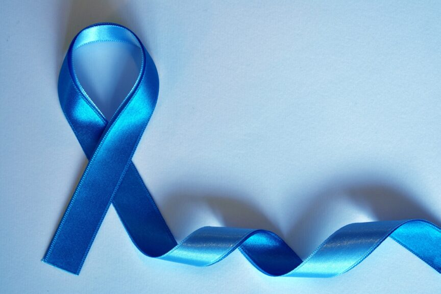 Cancer Medications - a blue ribbon