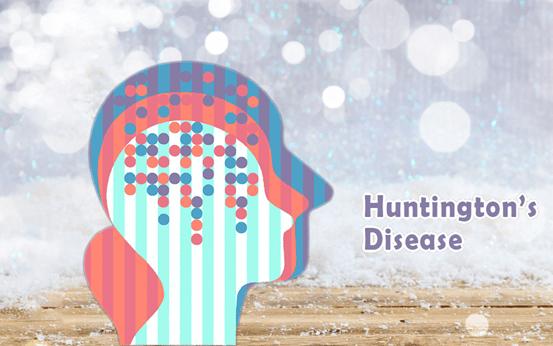 Three shadow of human's head with Huntington's disease.