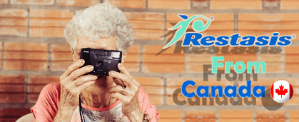 The lady with camera and restasis