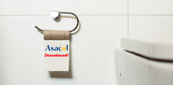 Paper Toilet with Asacol in the the paper